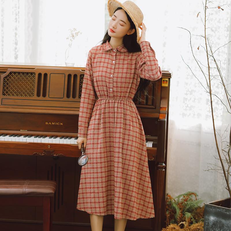 6001#不低于75现货超级多【现货实拍】2019年春季新款复古连衣裙
