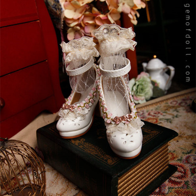 taobao agent GEM baby shoes 1/3bjd doll shoes Lucy's same white high heels 3 points for big girls