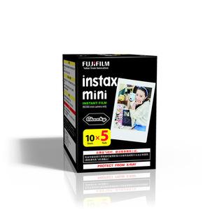 Máy ảnh Fuji Polaroid giấy vui nhộn phim lẻ mặt trắng 3 inch 50 tờ mini7s 8 25 50s 90 70 - Phim ảnh