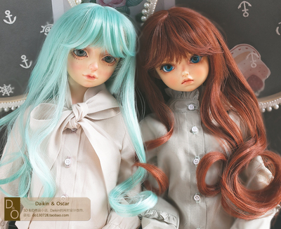 taobao agent DO spot bjd 3 points 4 points sd doll wig curly hair sd10 13gr female dd wig giant baby hair fake hair