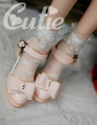 taobao agent Cutie 1/3BJD SD10/13 DD/DY and other hollow leather shoes + Swarovski rhinestones 3 colors