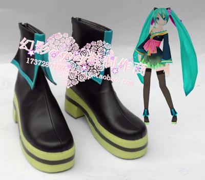 taobao agent No. 155 VOCALOID Hatsune Miku Diva Project MIKU Butterfly Oiran Kimono Cosplay Shoes