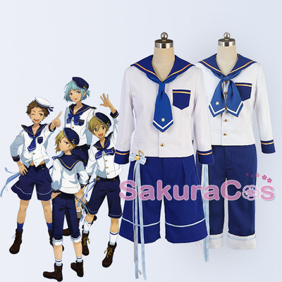 taobao agent Idol dream festival cos suit Ensemble Stars Ra*bits navy suit cosplay costume