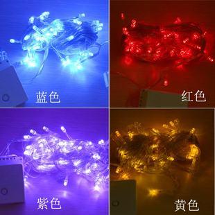 Монохромный вспышка нить свет декоративный свет LED красный жёлтый синий белый фиолетовый фонарь 10 метров 100 заставка заглушка легкий подключение водонепроницаемый