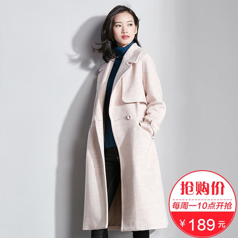 [189 nhân dân tệ] Van Gogh giải phóng mặt bằng nho áo len nữ phần dài 2017 mùa đông Hàn Quốc phiên bản của eo áo len