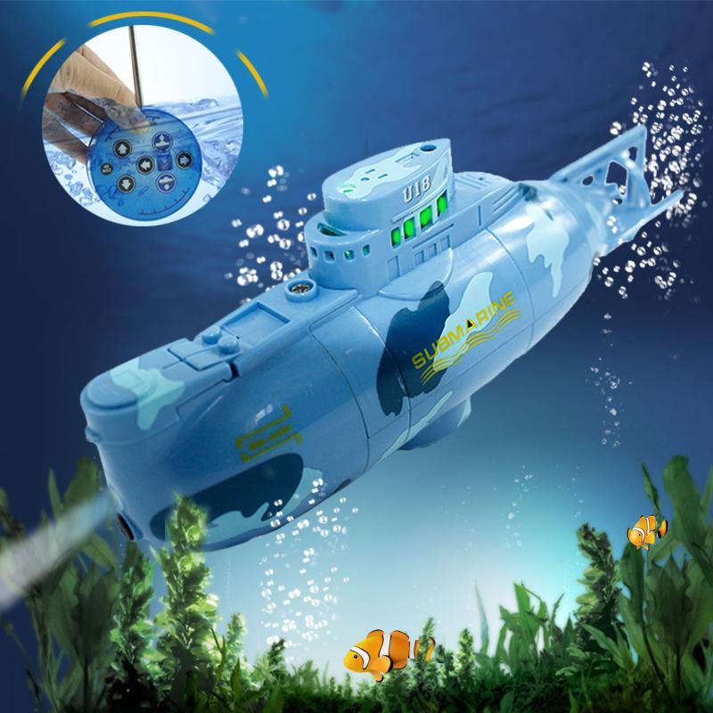 Món quà của trẻ em điều khiển từ xa tàu ngầm không thấm nước không dây điều khiển từ xa tàu ngầm mô hình mô phỏng sạc chơi nước đồ chơi tàu cao tốc