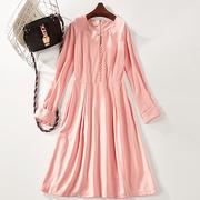 B48 mùa hè mới retro màu tinh khiết đơn giản mỏng dress nữ 7272
