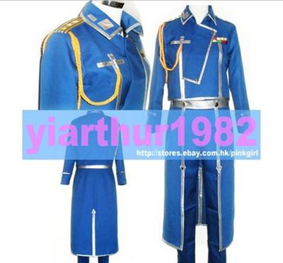 taobao agent Cosplay Fullmetal Alchemist Military Uniform Cos Clothes Free Shipping Customization