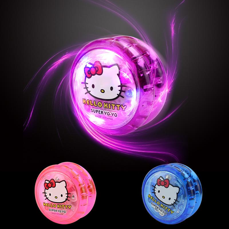 Đồ chơi trẻ em sáng yo-yo chói yo-yo chàng trai và cô gái kim loại lực kéo yoyo bóng trẻ em món quà sinh nhật