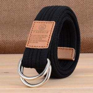 Hàng ngày đặc biệt sinh viên nam và nữ phổ vải vành đai kinh doanh bình thường jeans đôi vòng khóa vành đai mô hình ngoài trời