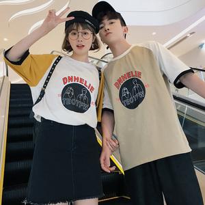 (女装)2018情侣装夏装新款短袖宽松T恤衫班服A358-1115-p38