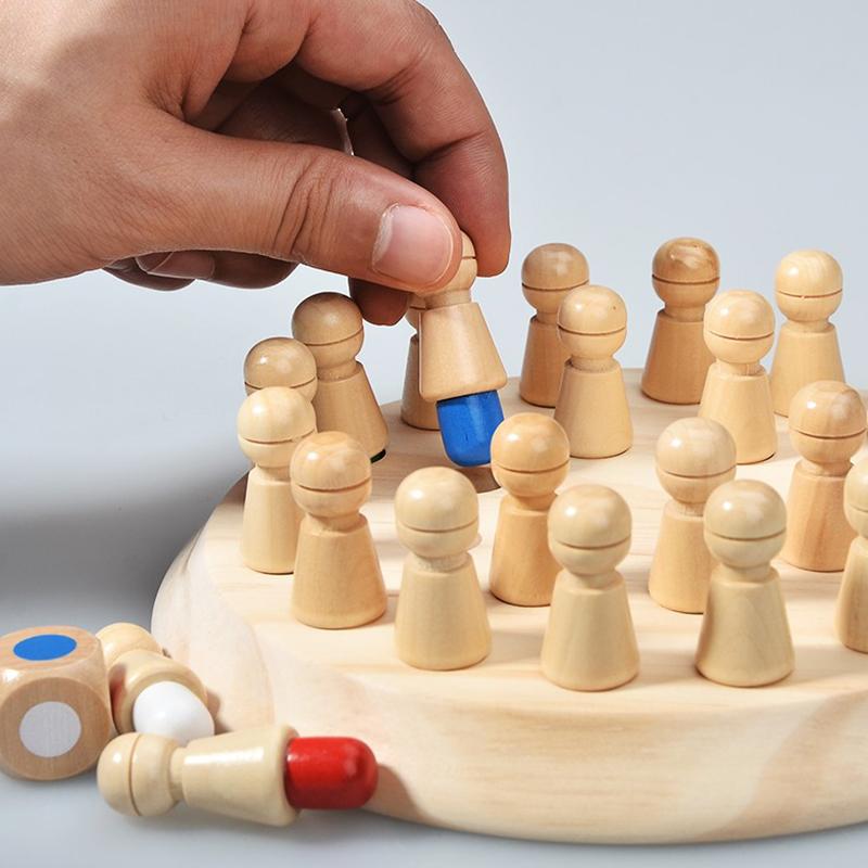 Trẻ em của bộ nhớ lực lượng quan sát tập trung đào tạo bộ nhớ cờ vua cha-con bảng tương tác trò chơi đồ chơi giáo dục