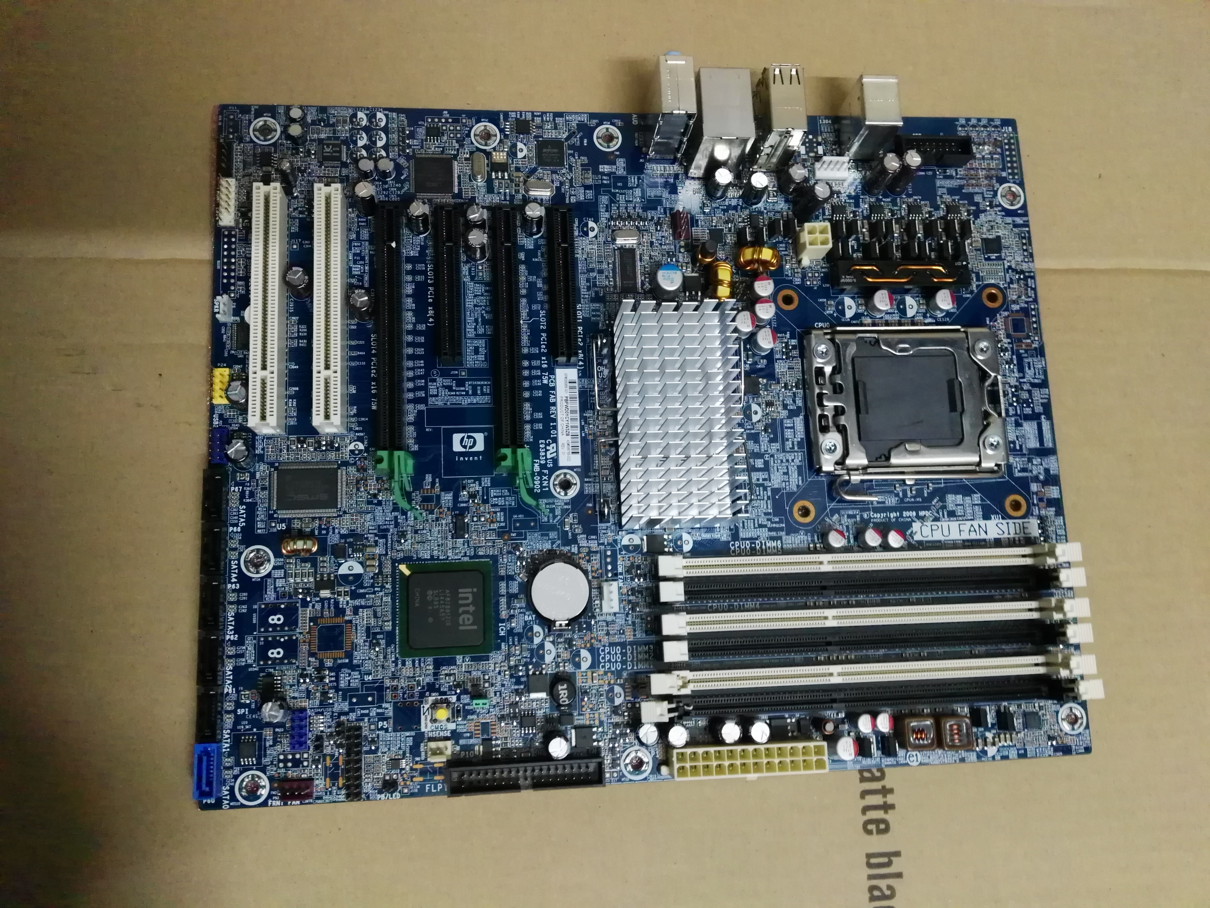 66 92] HP HP Z400 X58 motherboard 586968-001 586766-002 from