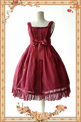 taobao agent 【Infanta. Infanta】Spot LOLITA Jenny Cookies*Pure Color Doll Skirt*Spring and Autumn One-piece Dress