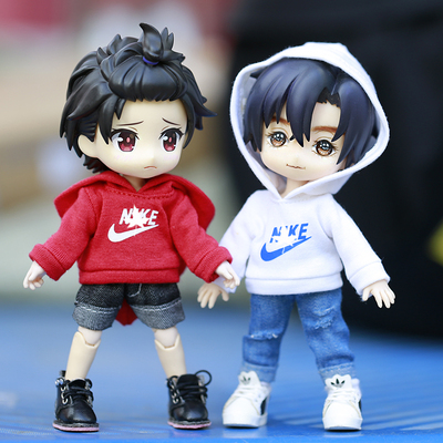 taobao agent ob11 baby clothes sports casual hoodie 12 points bjd GCS Nendoroid body9 YMY body doll clothes