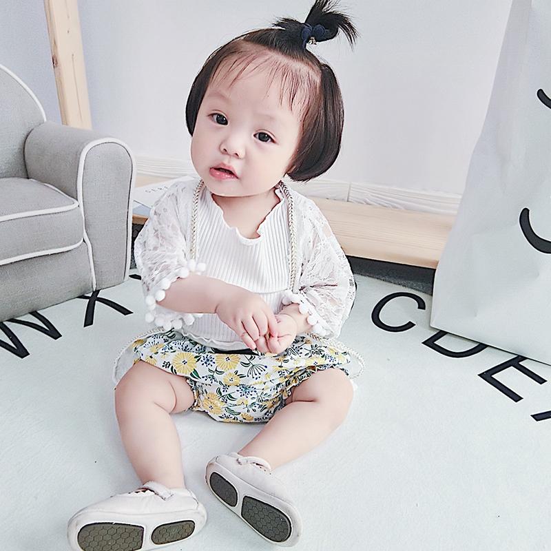 女童蕾丝外套女宝宝公主空调衫婴幼儿防晒衣开衫0-1-2岁夏季薄款