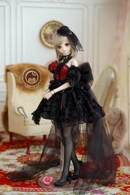 taobao agent 【Meow House】Temple + Rose Gothic retro temperament dress small dress 3 points BJD SD DD 1/3 baby clothes
