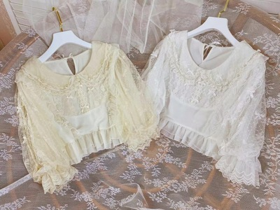 taobao agent 【New spot】Summer all-match lolita chiffon lace cool shirt The most obedient and more obedient