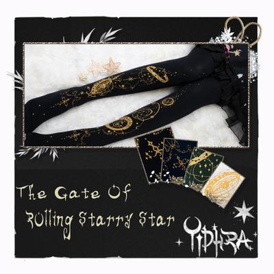 taobao agent Yidhra original {star revolving door} constellation compass * destiny pointer lolita socks constellation Binglian