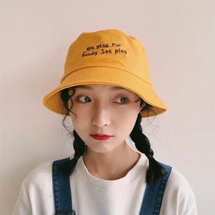 Шляпа женщина лето корейская волна дикий рыбак крышка японский тонкий летний чистый красный солнце солнцезащитный крем затенение крышка