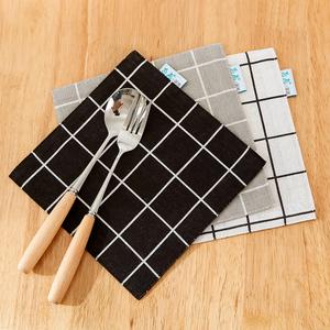 Placemat cotton linen nghệ thuật cách nhiệt thực phẩm phương tây chống bỏng coaster bảng mat nhà vuông tách trà mat bảng vải ảnh