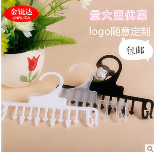 Underwear clip Underwear clip for underwear shop, plastic solid color hanging underwear, foldable hanging panty comb, pants clip