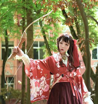 taobao agent Soufflesong exclusive design【Taisho Romance】Japanese-style print long graduated OP dress