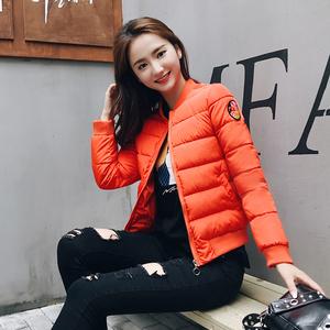 实拍2017冬季韩版修身短款棒球服羽绒服女棉服女外套602#