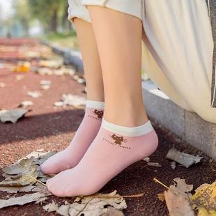 5双船袜女袜子隐形袜低帮袜