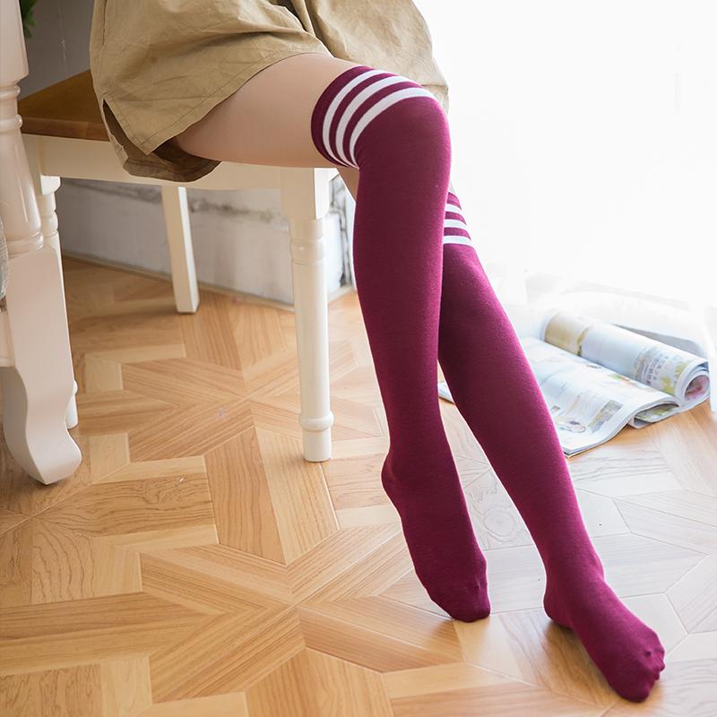 长筒袜子女韩国过膝日系学院风百搭潮秋冬加厚瘦腿可爱学生高筒袜