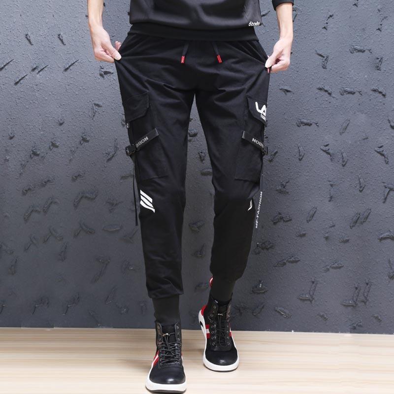 纯棉工装休闲裤时尚潮男多口袋弹力大码裤子热销83件有赠品