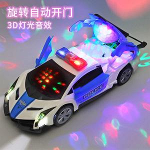电动跳舞变形旋转万向警车男孩玩具抖音同款儿童小孩女孩小汽车