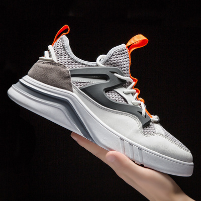 跨境新款运动鞋欧美飞织男鞋