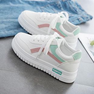 网红厚底板鞋秋季女鞋新款小白鞋学生运动鞋女休闲鞋子女学生韩版