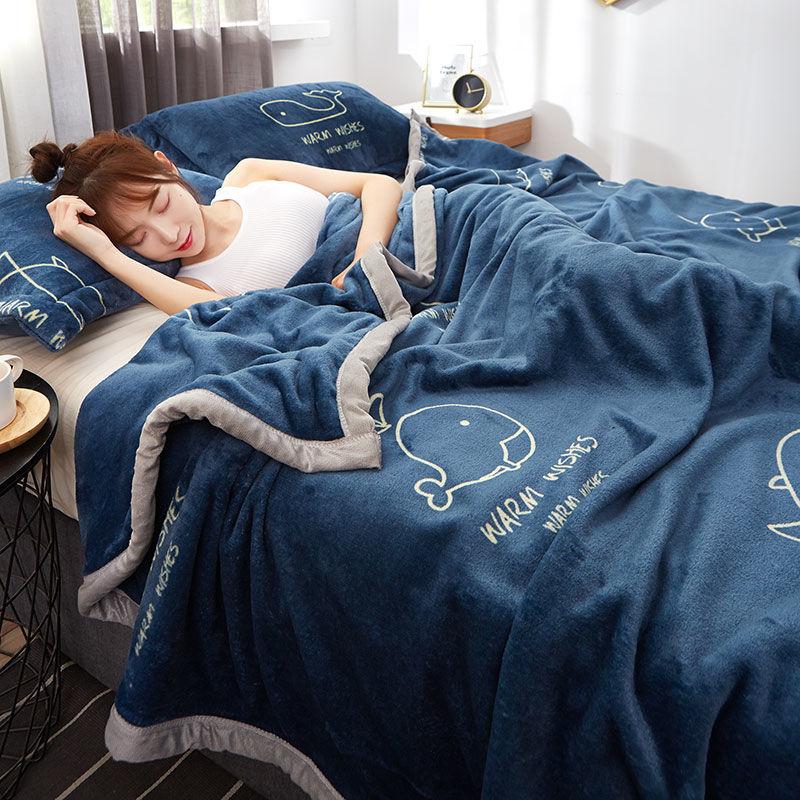 2020新款珊瑚绒毯子冬季法兰绒毛毯盖毯加厚单人床单学生被子春秋