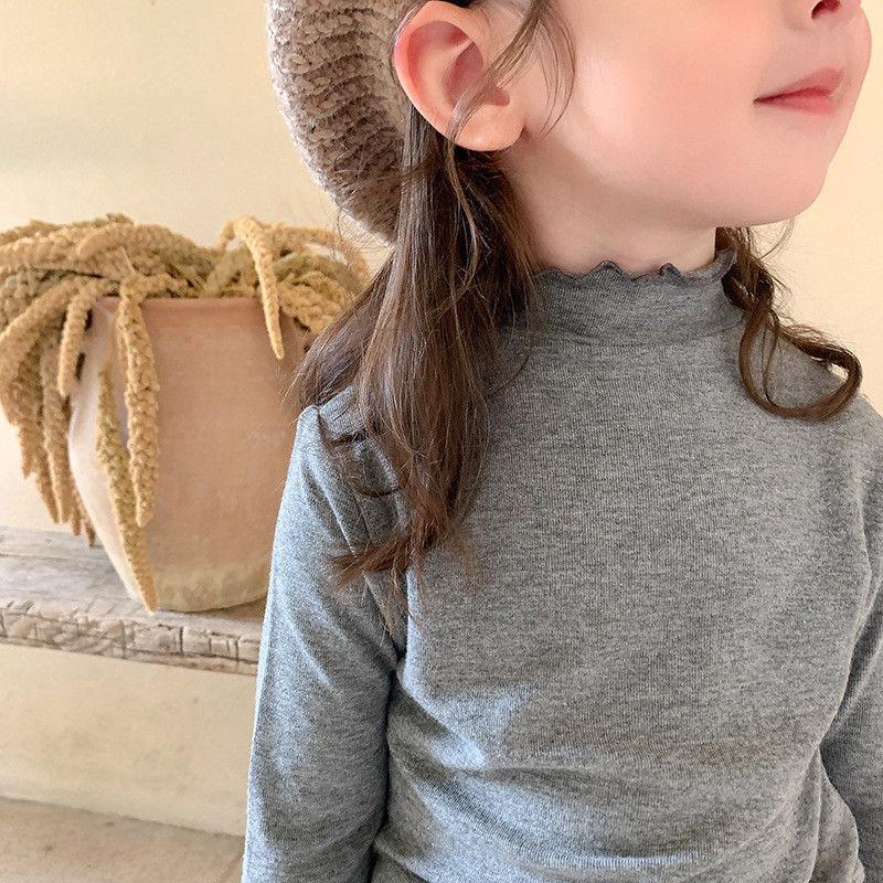 儿童半高领打底衫女童秋装长袖T恤宝宝上衣