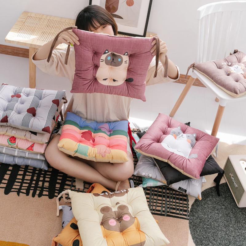 加厚防滑毛绒坐垫椅子垫沙发垫餐椅垫凳子垫办公椅垫美臀垫