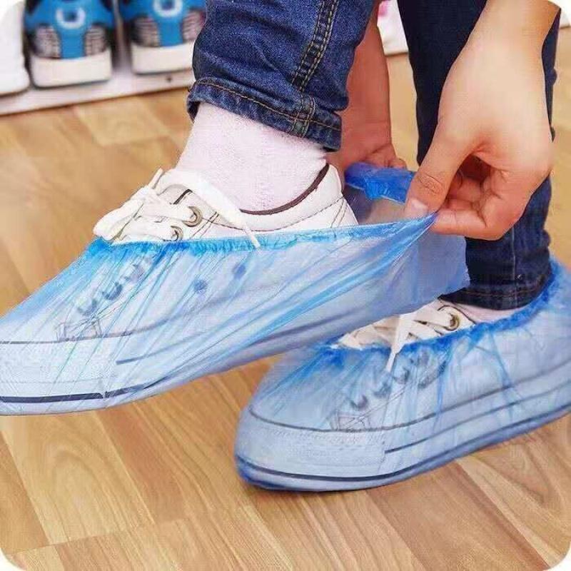 鞋套〓一次性加厚防水防尘防臭脚套�u下雨天家用室内客▲人鞋套7