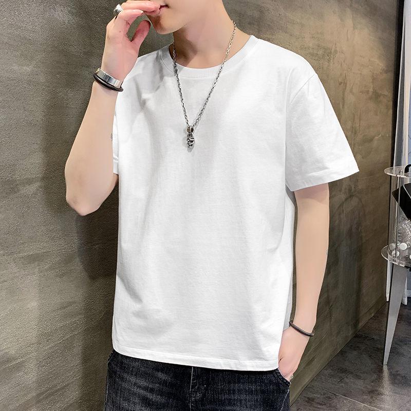 【买一送一】男士圆领短袖t恤男半袖纯色
