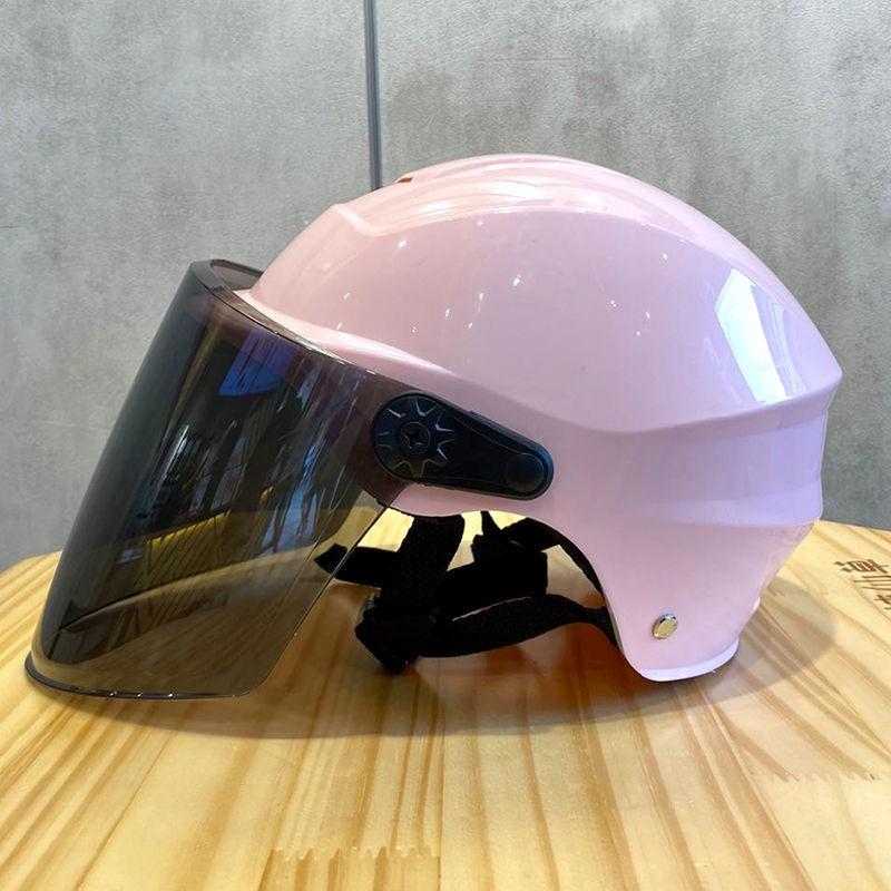 摩托车头盔女夏季头盔男夏季电动车头盔女四季骑车全盔成人新26
