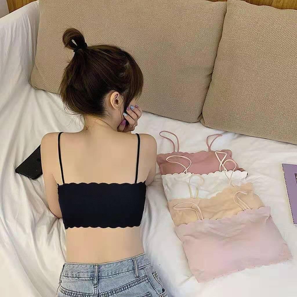 冰丝裹胸抹胸内衣女学生韩版小胸聚拢文胸 券后29元包邮