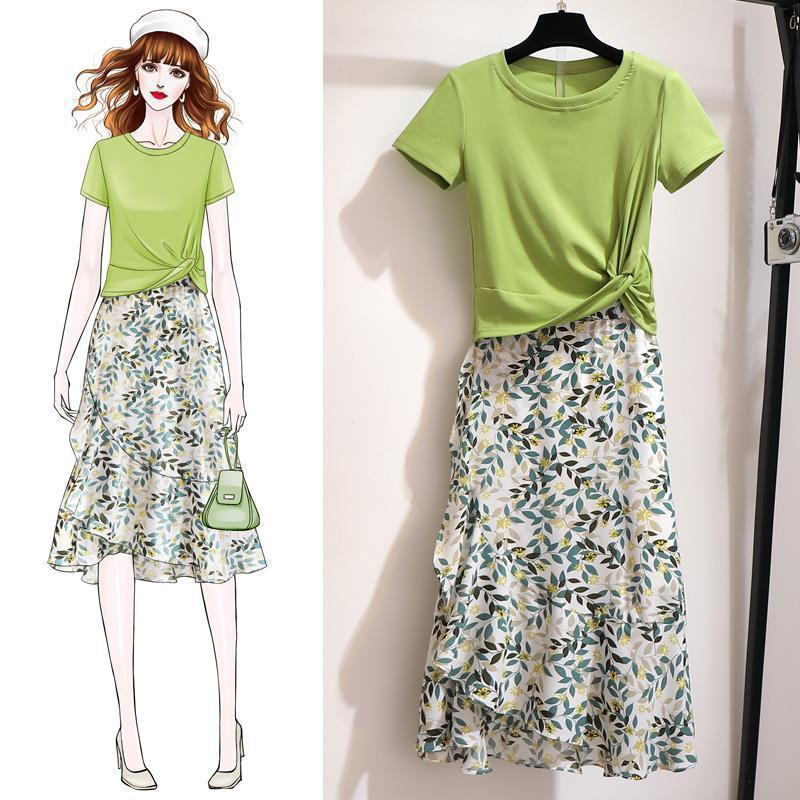 新款潮夏季连衣裙两件套女夏装洋气时尚裙子