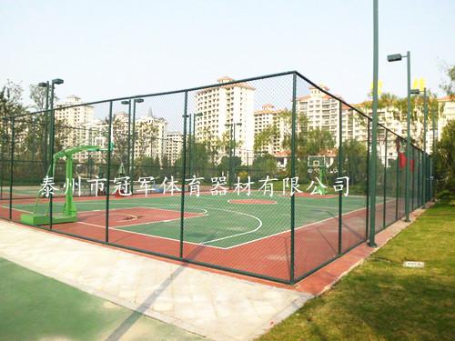 球场挡网设计安装 篮球场围网 网球场档网 体育场护栏网灯光照明
