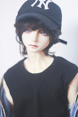 taobao agent Lazy baby bjd doll male 346 points fake hair sd doll doll bangs multicolor wig female imitation mohair spot