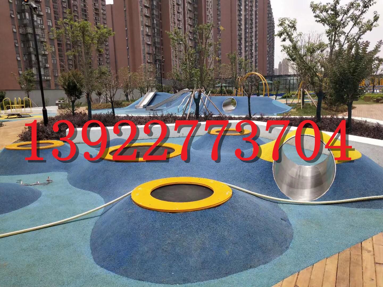 橡胶地面幼儿园地胶地垫塑胶颗粒环保材料EPDM彩色地面游乐场防滑