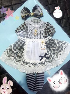 taobao agent 2 sets of free shipping in stock】Big 6-point dress bjdsd doll clothes 1/4-point holala giant baby cloth Alice