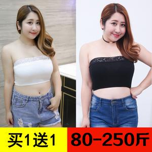 Kích thước lớn ống chất béo hàng đầu mm 200 kg chống ánh sáng căng màu đen phần ngắn vẻ đẹp trở lại sexy cô gái béo cộng với phân bón tăng bọc ngực