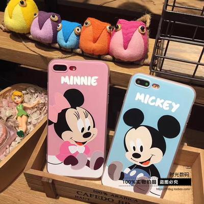 创意迪士尼苹果iPhone6卡通手机壳7plus女款6splus浮雕情侣壳硅胶