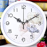 Тихие настенные часы для гостиной в офисе сейчас поколение Креативные часы круглые часы минималистичный мультфильм настенные часы популярный Кварцевые часы