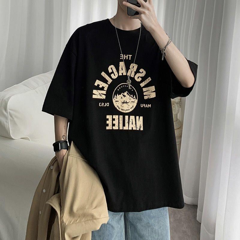 潮牌港风宽松嘻哈半袖上衣短袖t恤